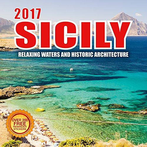 2017 Sicily Calendar - 12 x 12 Wall Calendar - 210 Free Reminder Stickers