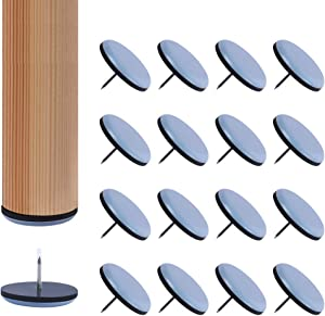 Ezprotekt 16 PCS Furniture Sliders,1.5 inch Furniture Glide for Hardwood Floors and Carpet,Nail on Chair Legs Furniture Gliders