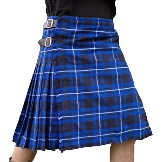 hibote Vestido escocés de los Hombres Kilt utilitario Highland ...