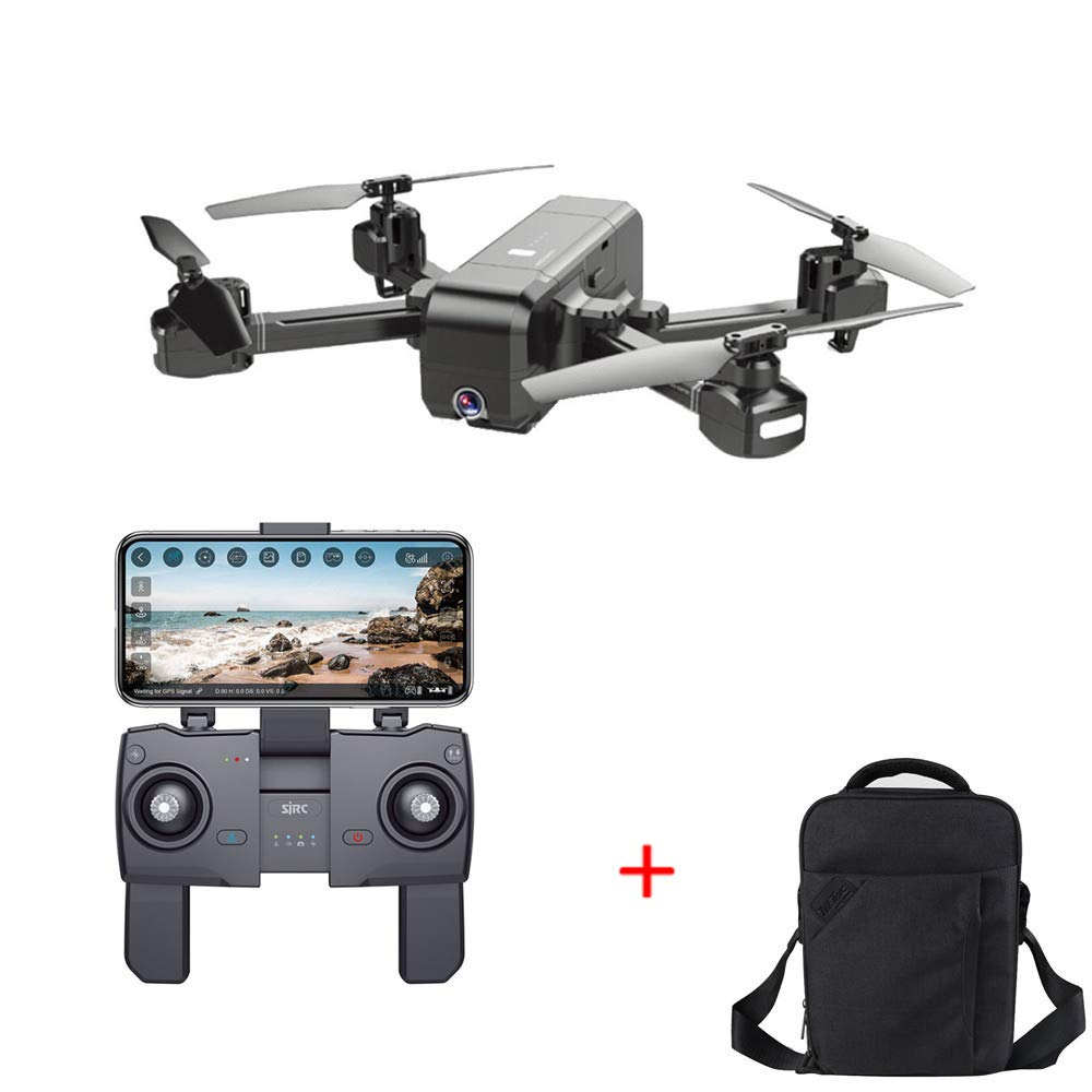 Cywulin RC Quadcopter Drone 1080P HD 5G WiFi FPV Camera Live Video, Brushless Motor, GPS Return Home, Follow Me, Long Control Range, Intelligent Modular Battery with Carrying Backpack (Drone+Backpack)