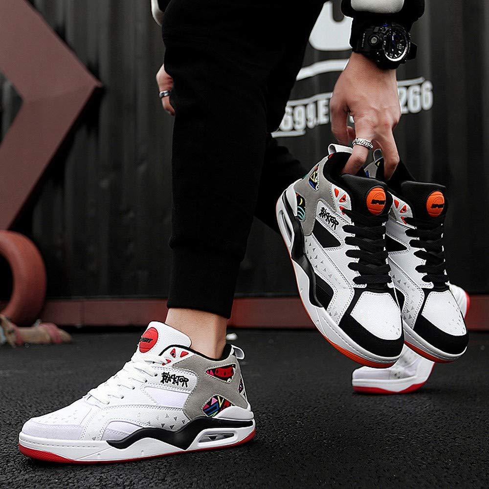 KEREE Men and Women Fashionable Air Cushion Light Sneaker Basket Training Game Sport high top Lovers Basketball Shoes