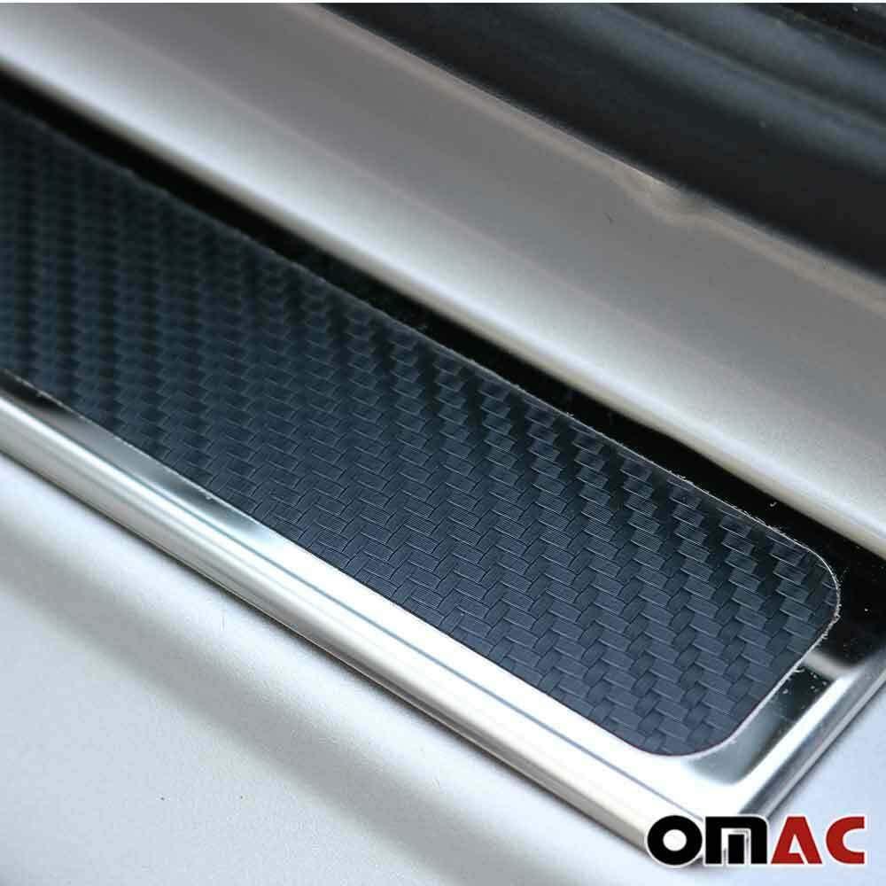4 pezzi in acciaio inox rivestito in carbonio Battitacco cromato per T-Roc 2018-2019