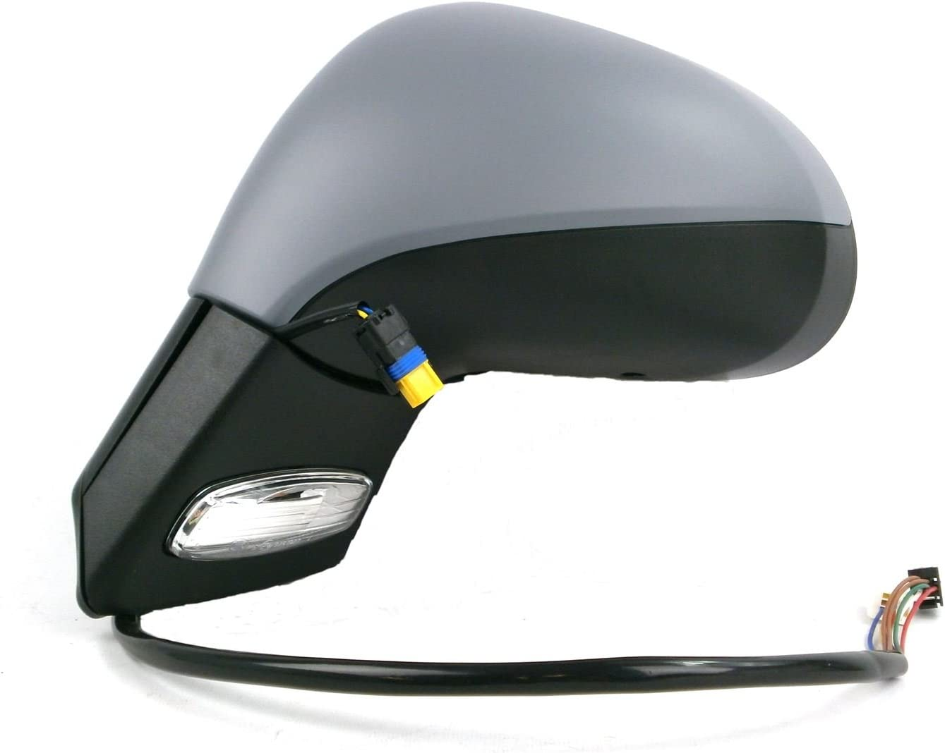 Xenons Online Peugeot 206 7//2003-2009 Electric Wing Door Mirror Primed Cover Drivers Side