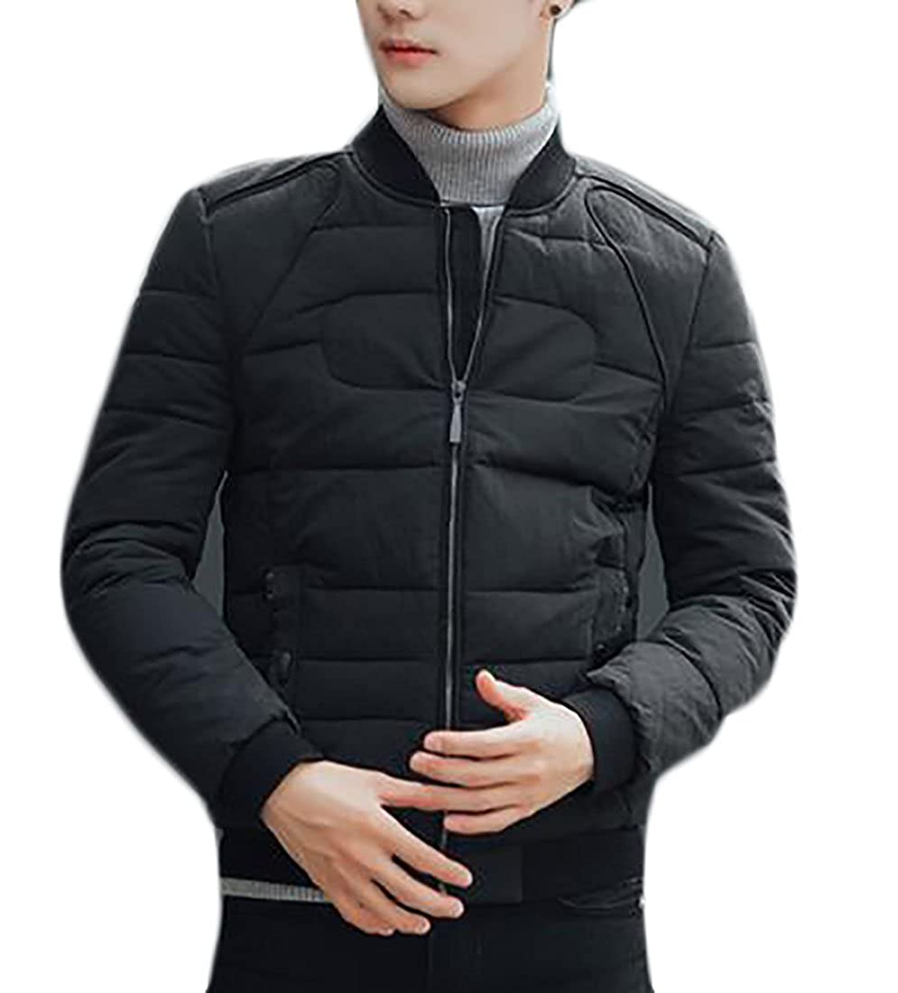 xtsrkbg Mens Winter Padded Quilted Outdoor Slim Bomber Coats