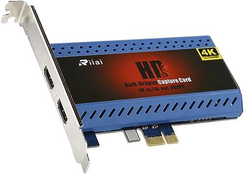 Capturadora de Vídeo,4K In/Out HD Game Video Capture Card PCIe YK763 Live Streamer 1080P Transmisión de Tecnología de Latencia Para Xbox One PS4 Switch Wii: Amazon.es: Electrónica