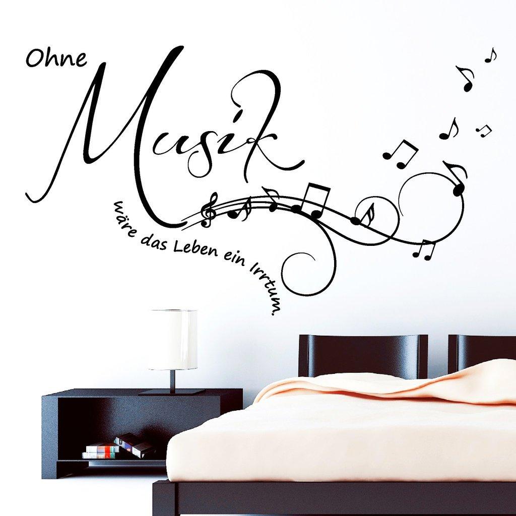 """Großartig Wandtattoo Zitate Foto Von Wandtattoo: Schriftzug """"ohne Musik Wäre Das Leben"""
