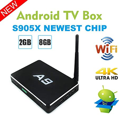 Android TV Box, Vmade A9 Smart TV Box Amlogic S905X Quad Core 2G RAM 8G ROM  Dual Band Wi-Fi 2 4G/5 0G BT 4 0 Support 4K HD H 265 Decoding with IR