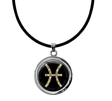 Colgante Signo del Zodiaco Piscis Oro