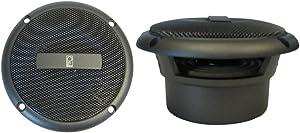 Poly-Planar MA3013G Round Flush Mount Speaker Pair, Gray, 3-Inch