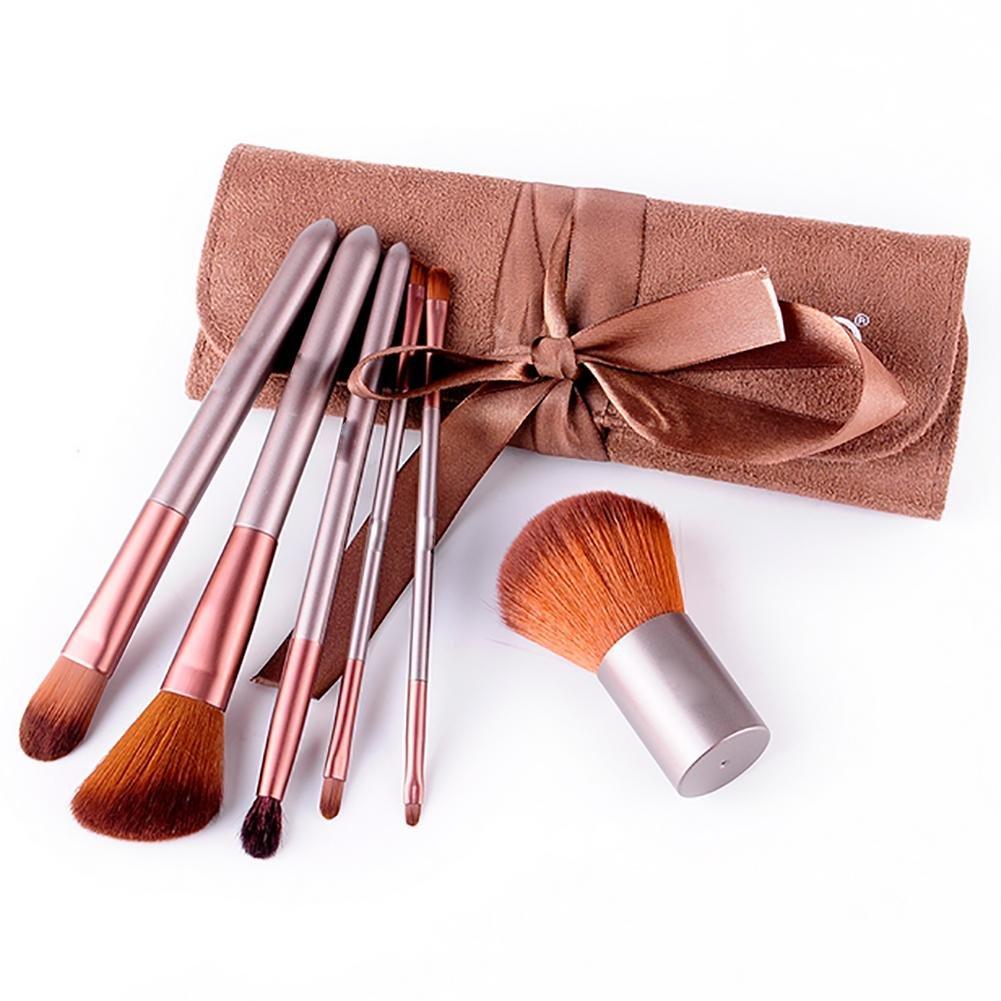GUO Herramientas de belleza portátil de reparación de pintura capacidad de cepillo de maquillaje Set 6 wexe.com