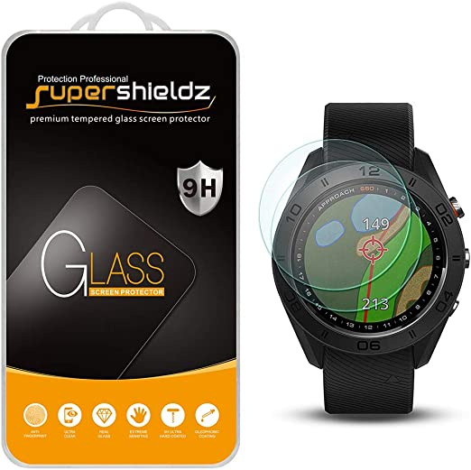 Supershieldz Designed for Garmin Approach S42 Tempered Glass Screen Protector 2 Pack Bubble Free Anti Scratch