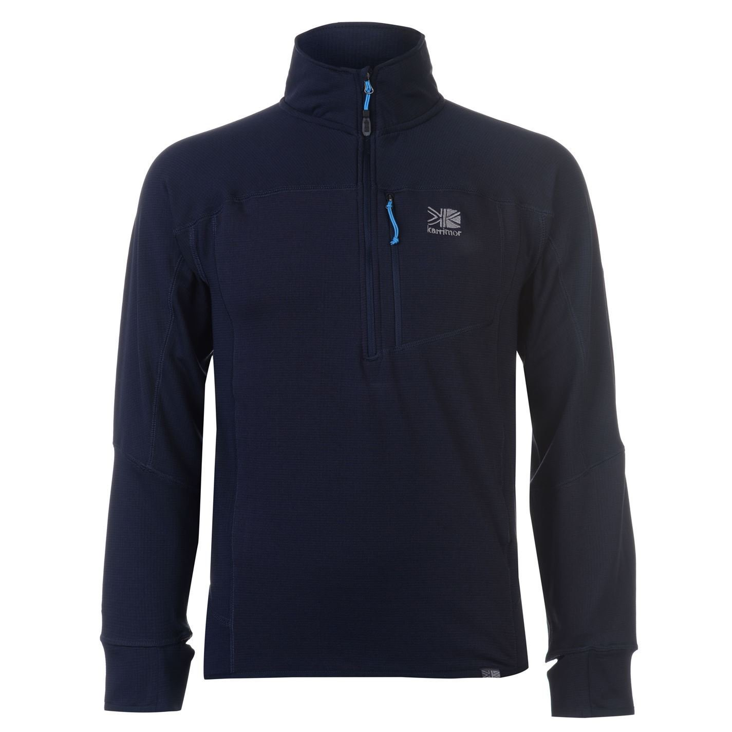 618003760de Karrimor Mens Grid Three Quarter Zip Walking Top Fleece Sweatshirt Jumper  Long Navy Blue XL  Amazon.co.uk  Clothing