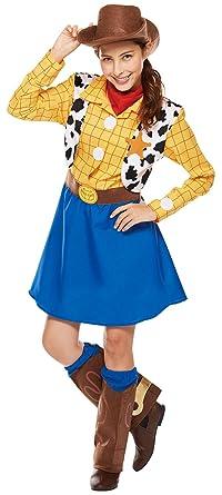 fc8952004 Amazon.com: Disney's Woody Costume - Toy Story Dress - Teen/Women's ...