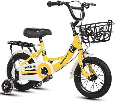 TSDS Bicicleta Infantil Bicicleta de montaña de 14 Pulgadas Bicicleta Amarilla/Rosa/Verde Bicicleta Exterior (Color : E): Amazon.es: Deportes y aire libre