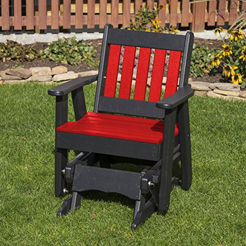 BRIGHT RED-POLY LUMBER MISSION 2 Feet Glider EVERLASTING – MADE IN USA – AMISH CRAFTED Review