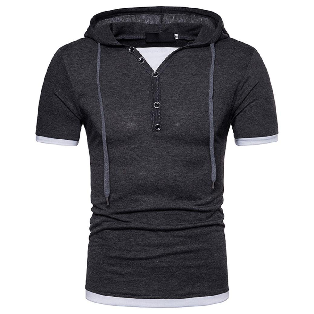 Paolian Sweat-Shirt, Homme Casual Plein Hooded Pull à Manches Longues T-Shirt Top Chemisier
