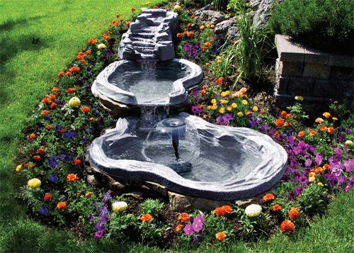 Algreen 91959 Tranquility Water Fall for Water Gardens and Ponds,Charcoalstone