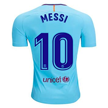 2017 2018 FC Barcelona Away Soccer Football Jersey 10 Lionel Messi   Amazon.co.uk  Sports   Outdoors 6e0882b25