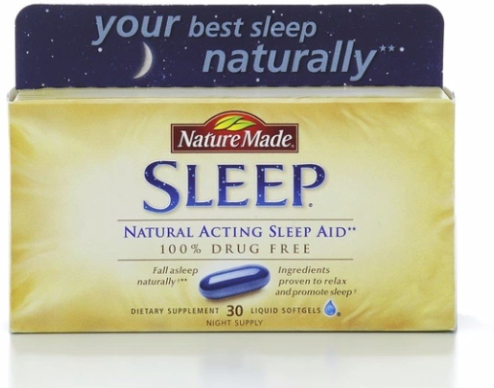 Nature Made Natural Sleep Aid Liquid Softgels 30 ea (Pack of 4) by Nature Made