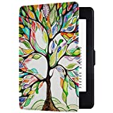Huasiru Painting Case for Kindle Paperwhite, Happy Tree - fits All Paperwhite Generations Prior to 2018 (Will not fit All-New Paperwhite 10th Generation)