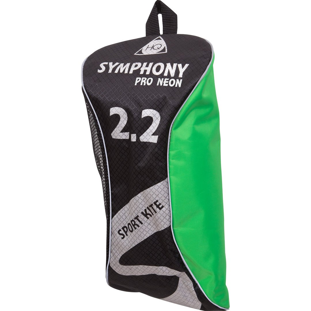 HQ Kites Dual-line Outdoor Sports and Activities Foil Symphony Pro 2.2 Kite, 87'' Length, With Wrist Straps and Lines, Color: Neon Yellow, Active Outdoor Fun For Ages 14 and Up by HQ Kites and Design (Image #2)