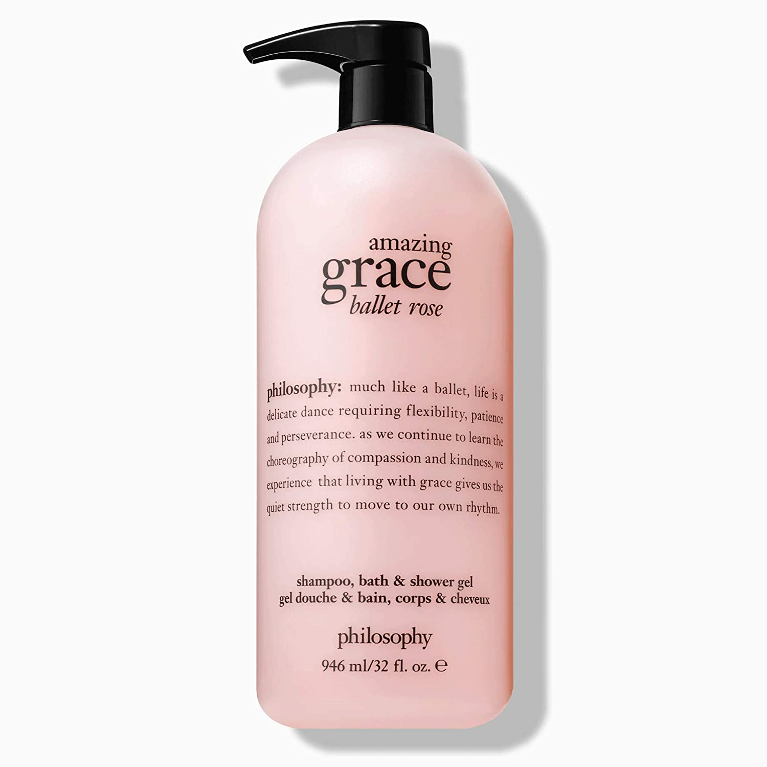 Philosophy Amazing Grace Ballet Rose Shampoo, Bath Shower Gel 32 oz