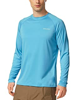 419b9217009 Baleaf Men's UPF 50+ UV Sun Protection Outdoor Long Sleeve Performance T- Shirt