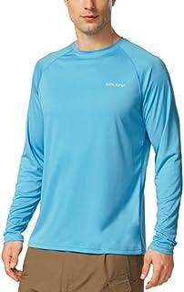 Baleaf Men's UPF 50+ Outdoor Running Long Sleeve T-Shirt Blue Size M
