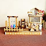 BWLZSP 1PCS wooden crafts ornaments double hourglass wood music box music box to send classmates birthday gift Crafts Decorations WL5301050 (Color : B)