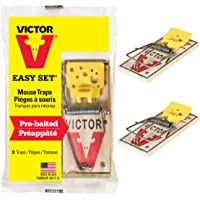Victor V Mouse Traps, Yellow, 2 Traps