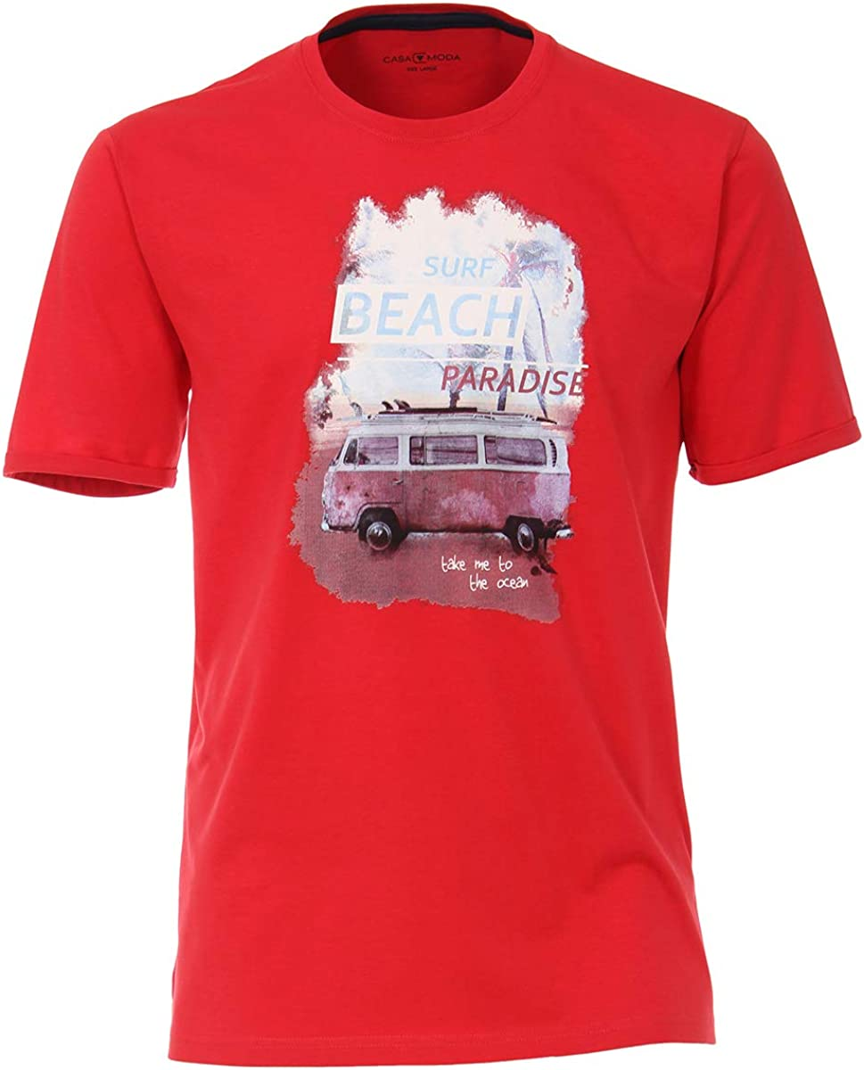 Casamoda Camiseta Oversize roja Print Beach Paradise, 2xl-8xl ...