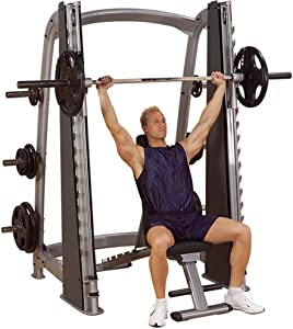 Body-Solid SCB1000 Pro Clubline Counter-Balanced Smith Machine for Weight Training, Home and Commercial Gym