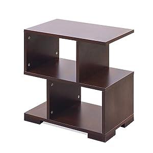 AAROORA Bedside End Table Home Bedroom & Living Room Multipurpose Storage Engineered Wood Bedside Table (Pack of 2) (Standard, Wenge)