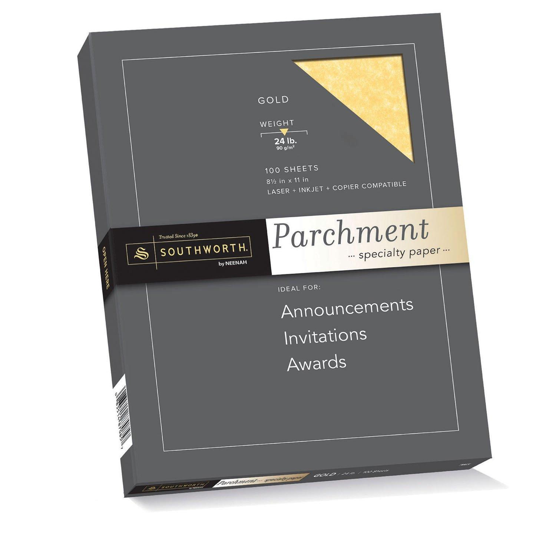 Gold color cardstock paper - Amazon Com Southworth Colors Textures Fine Parchment Paper 24 Lb 8 5 X 11 Inches Gold 100 Sheets P994ck Office Products