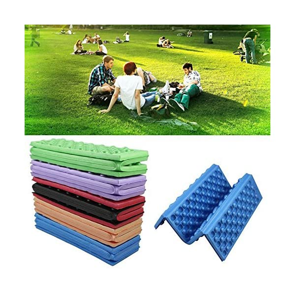 YEAH67886Outdoor portabilità schiuma pieghevole cuscino per sedia da campeggio esterno cuscino (rosso) 6 spesavip