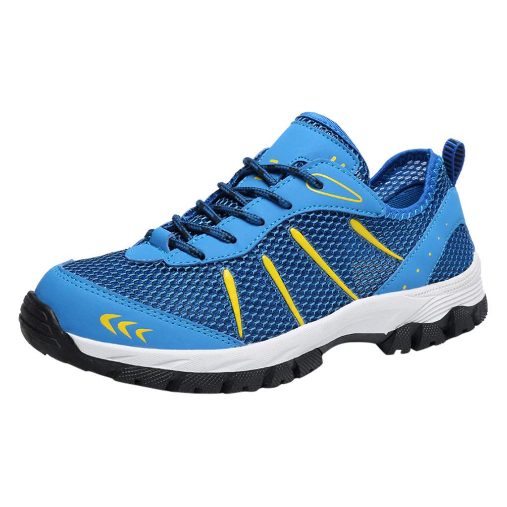 Mysky Fashion Men Popular Casual Mesh Breathable Outdoor Non-Slip Comfortable Walking Shoes Sports Hiking Shoes Blue by Mysky (Image #1)