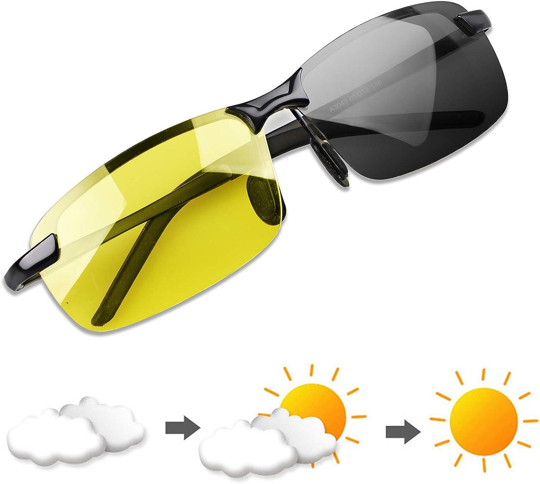 YIMI Gafas de Sol Hombre Deportivas Polarizadas Fotocromaticas Para Hombre y Mujer Conducción Ciclismo Moto Pesca Esqui Golf Running Deporte Al Aire Libre Rectangulares Protección 100% UVA UVB
