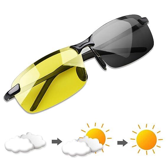 YIMI Gafas de Sol Hombre Deportivas Polarizadas Fotocromaticas Para Hombre y Mujer Conducción Ciclismo Moto Pesca Esqui Golf Running Deporte Al Aire ...
