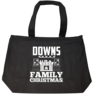 downs family christmas tote bag with zip