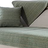 YANGYAYA Sectional Sofa slipcovers,Sofa Towel Covers,Sofa Protector Cotton Quilted Anti Slip Decorative Sofa Covers Throw Sets for Living Room Cushion Cover-Green 70x70cm(28x28inch)