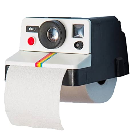 Montado en la pared soporte de papel higiénico de almacenamiento, Creative Tissue rollo percha,