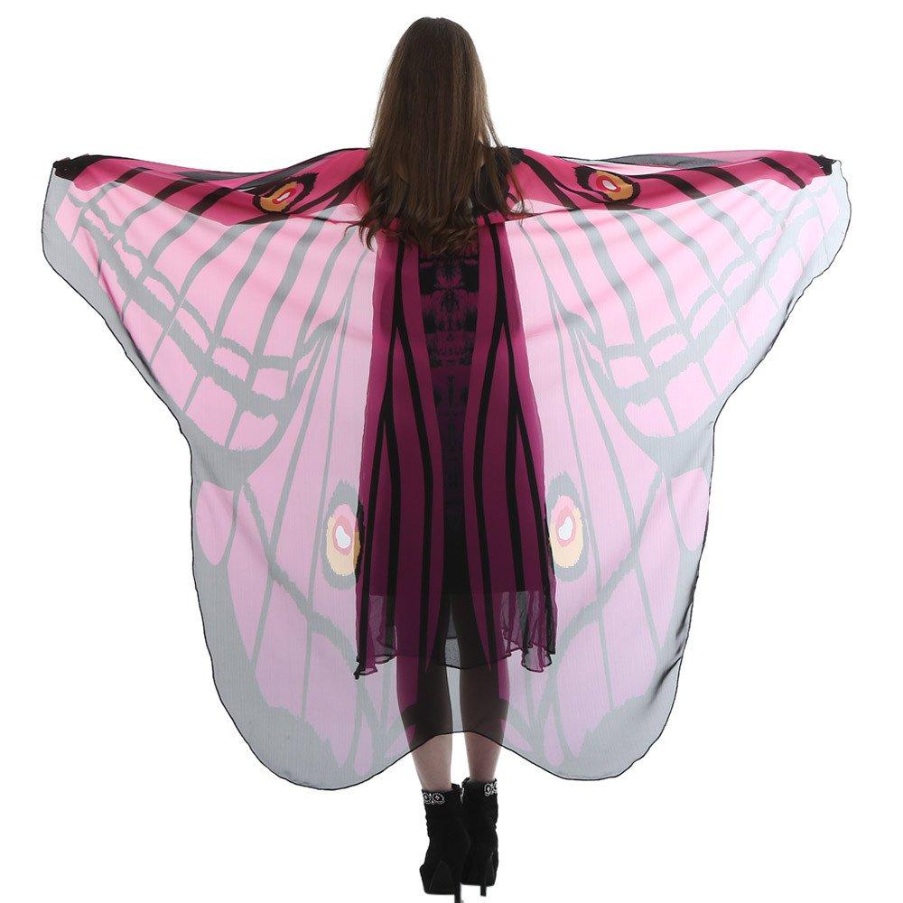Xmiral Disfraz Gasa Chal de Alas de Mariposa para Mujer, Bufanda Hada duendecillo Cosplay Capa Danza Halloween(Verde,185 * 145cm): Amazon.es: Productos para ...