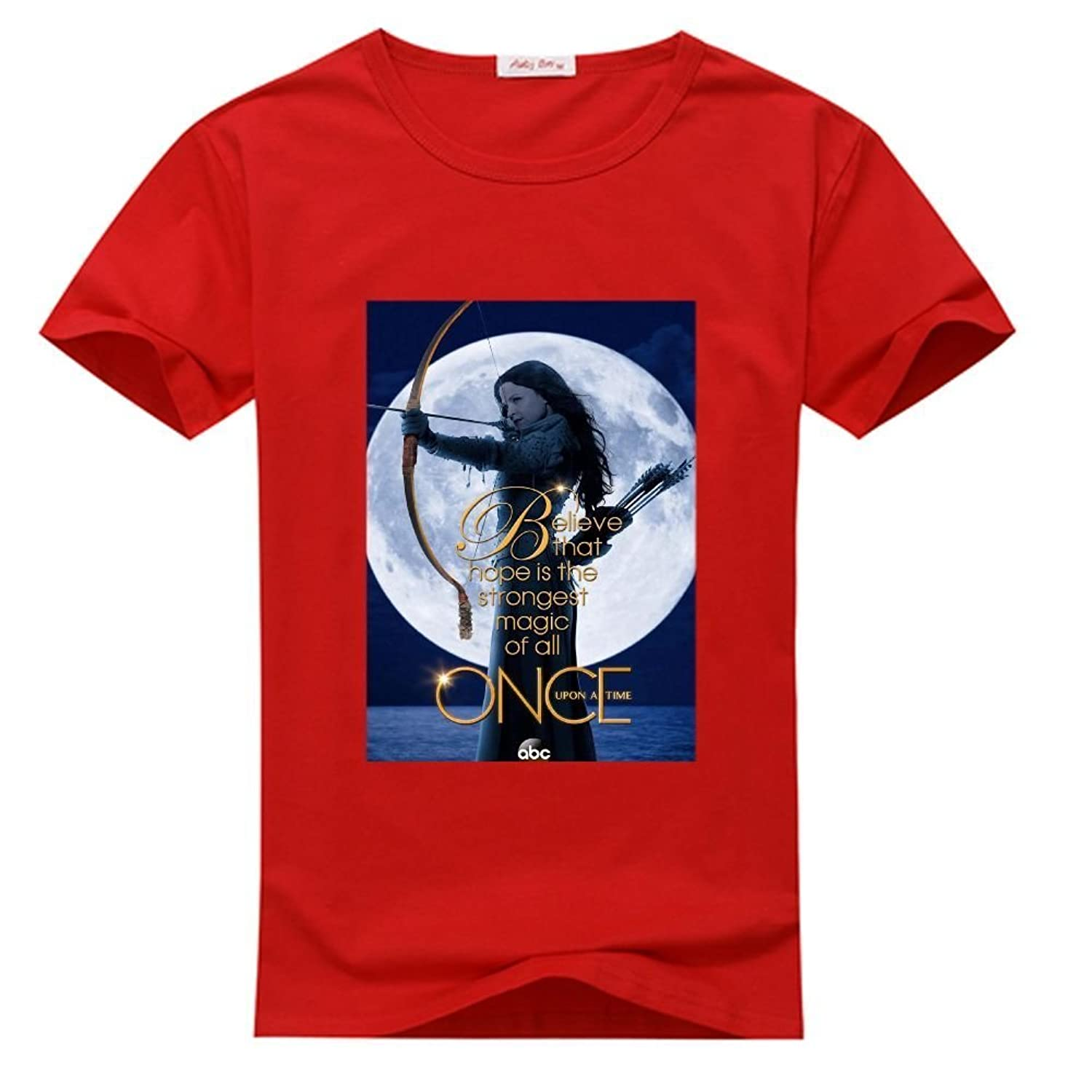 ISTN Custom Once Upon A Time Men's T-shrits, DIY Once Upon A Time 100% Cotton Crew Neck T-Shirt