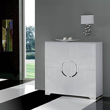 Muebles de Salón - Aparadores de Diseño - Blanco/Cromo W-744 ...
