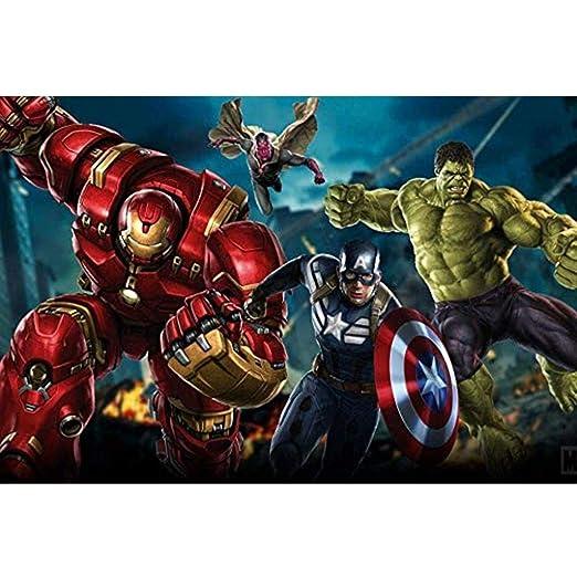 Jigsaw Puzzle Marvel Hulk, cartel de película, puzzle de ...