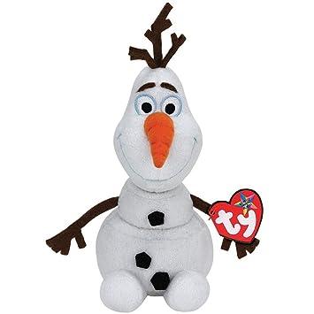 Disney Frozen - Olaf, peluche con sonido, 15 cm, color blanco (TY 41148TY): Amazon.es: Juguetes y juegos
