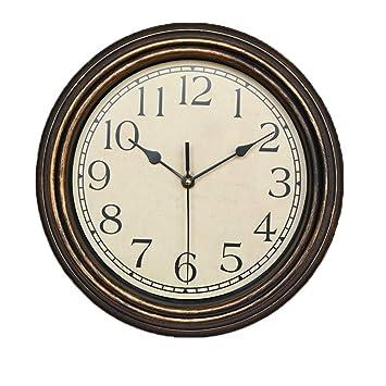 XJYA Relojes de Pared Silencioso Grandes Originales Cocina Decorativas 12 Pulgadas Reloj Madera Vintage de Pared de Mecanismo Silencioso: Amazon.es: ...