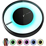 Nillkin Wireless Charger, Qi Wireless Charging Pad[Color LED Light]Compatible with iPhone Xs Max/XS/XR/X/8/8 Plus,10W Fast Charge for Samsung Galaxy S10/S10+/S10E/S9/S9+/Note 9/8/S8+/S8(No AC Adapter)