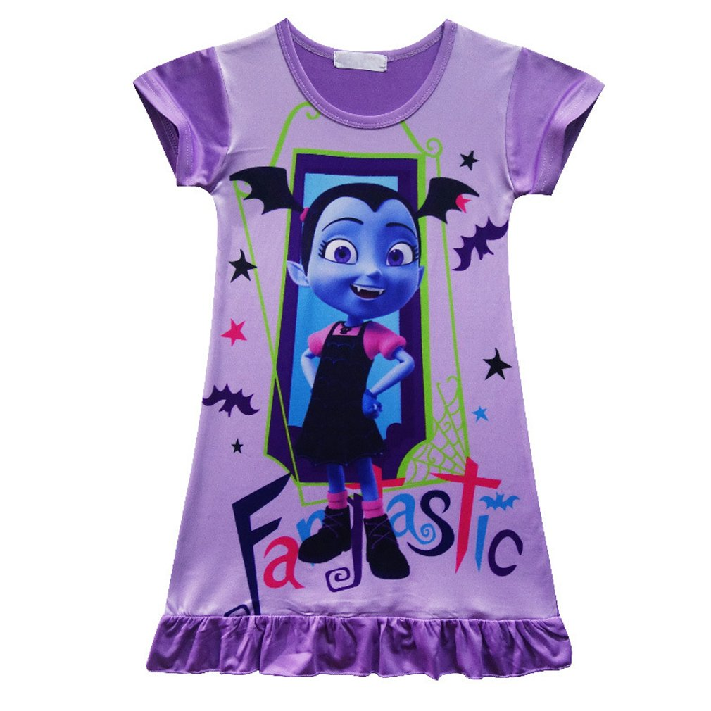 SZAMZ Vampirina Girls Comfy Loose Pajamas Cartoon Princess Nightgown Dress