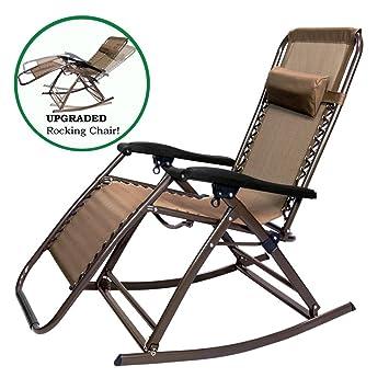 Superieur Amazon.com : PARTYSAVING Infinity Zero Gravity Rocking Chair Outdoor Lounge  Patio Folding Reclining Chair APL1271, Brown : Garden U0026 Outdoor